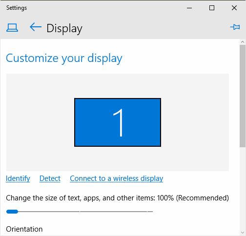 High DPI display